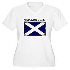 Custom Scotland Flag Plus Size T-Shirt