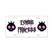 Zombie Princess Aluminum License Plate