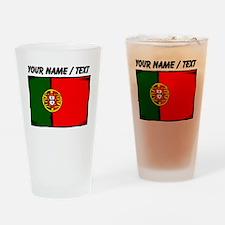 Custom Portugal Flag Drinking Glass