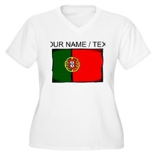 Custom Portugal Flag Plus Size T-Shirt