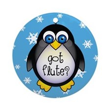 Got Flute Penguin Music Christmas Ornament