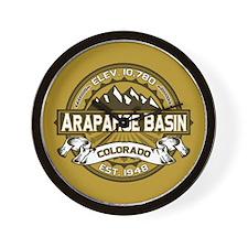 Arapahoe Basin Tan Wall Clock