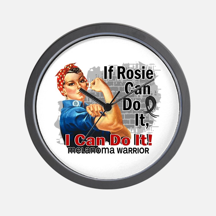 If Rosie Can Do It Melanoma Wall Clock