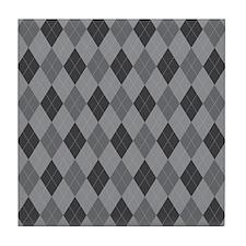 Gray Argyle Tile Coaster