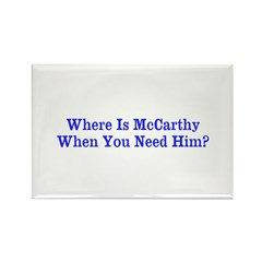 Where Is McCarthy Rectangle Magnet (10 pack)