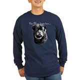 Rottweiler happy face Long Sleeve T-shirts (Dark)