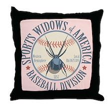 Sports Widows of America Throw Pillow