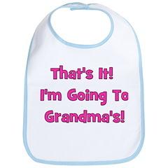 I'm Going To Grandma's! Pink Bib