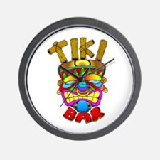 Tiki Bar God Wall Clock