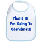 I'm Going To Grandma's! Blue Bib
