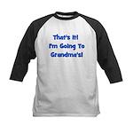 I'm Going To Grandma's! Blue Kids Baseball Jersey