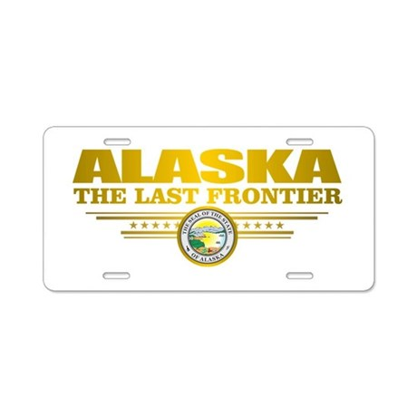 Alaska Pride Aluminum License Plate by FlagAmericas
