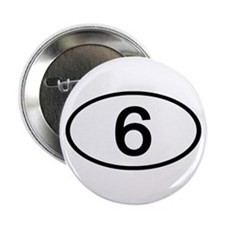 Number 6 Oval Button