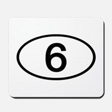 Number 6 Oval Mousepad
