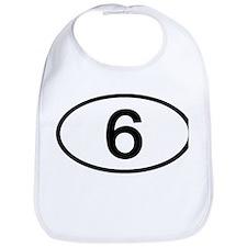 Number 6 Oval Bib