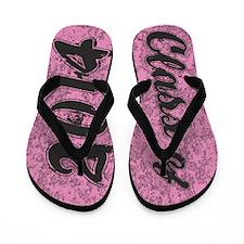 Senior Class OF 2014 PINK Grunge Flip Flops
