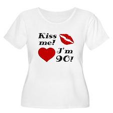 Kiss Me I'm 90 T-Shirt