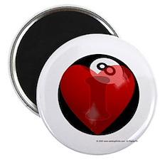 """I Love 8-ball 2.25"""" Magnet (10 pack)"""
