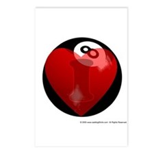 I Love 8-ball Postcards (Package of 8)