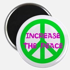 """increase the peace - 2.25"""" Magnet (10 pack)"""