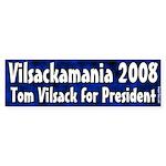 Tom Vilsackamania bumper sticker