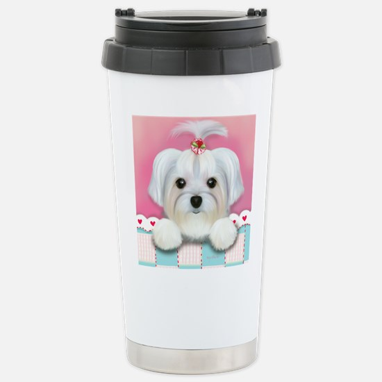 Morkie Shelly Stainless Steel Travel Mug