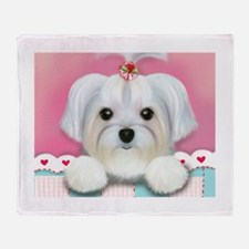Morkie Shelly Throw Blanket