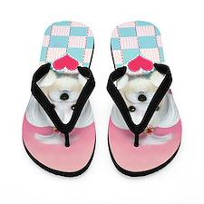 Morkie Shelly Flip Flops
