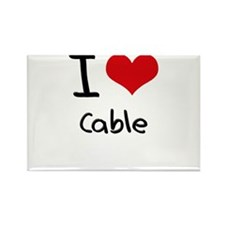 I love Cable Rectangle Magnet