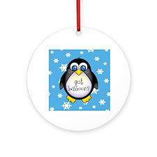 Cute Got Bassoon Penguin Music Ornament