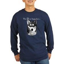 Husky Happy Face T