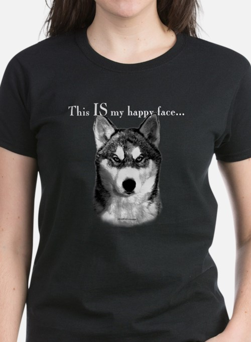Husky Happy Face Tee