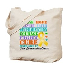 Appendix Cancer Believe Tote Bag