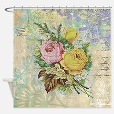 Beautiful Vintage rose design Shower Curtain