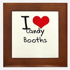 I love Candy Booths Framed Tile