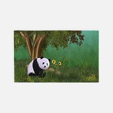 Cute Panda 3'x5' Area Rug