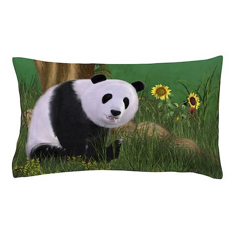 Cute Panda Pillow : Cute Panda Pillow Case by gatterwe