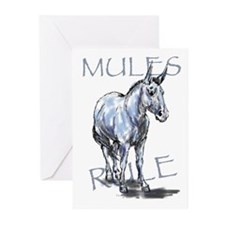 Mules Rule Greeting Cards (Pk of 10)