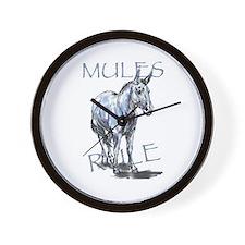 Mules Rule Wall Clock