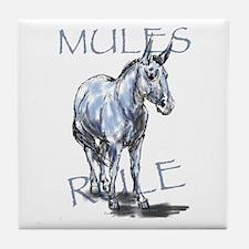 Mules Rule Tile Coaster