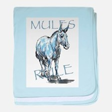 Mules Rule baby blanket