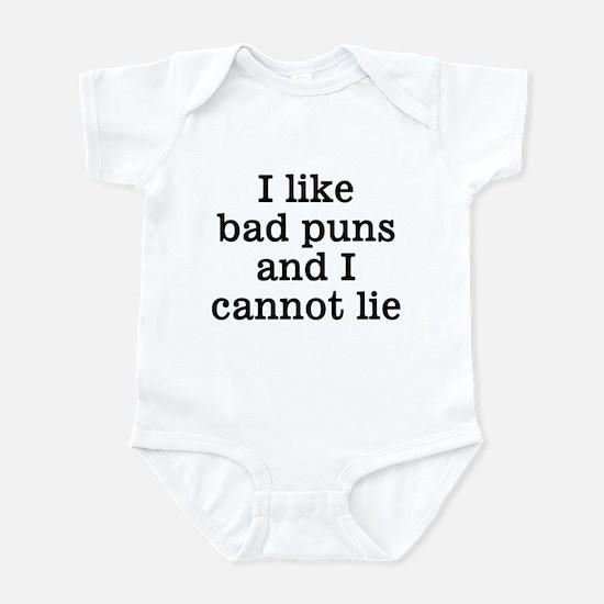 I Like Bad Puns Infant Bodysuit
