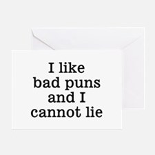 I Like Bad Puns Greeting Card