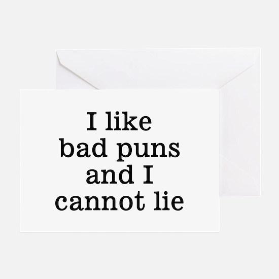 I Like Bad Puns Greeting Card