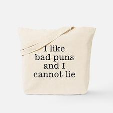 I Like Bad Puns Tote Bag