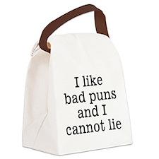 I Like Bad Puns Canvas Lunch Bag