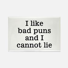 I Like Bad Puns Rectangle Magnet