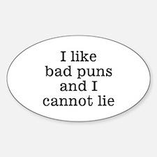 I Like Bad Puns Decal