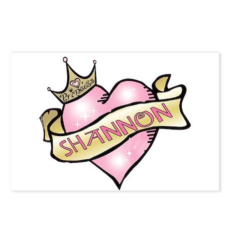 Sweetheart Shannon Custom Princess Postcards (Pack