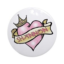 Sweetheart Shannon Custom Princess Ornament (Round